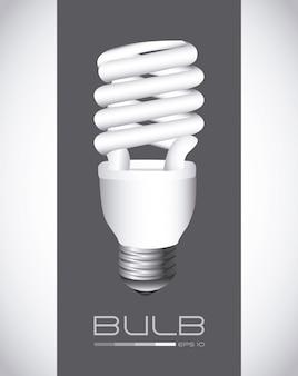 Ampoule sur fond gris