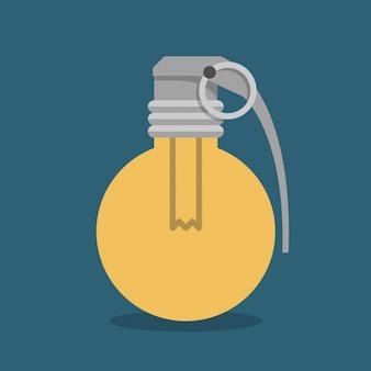 Ampoule avec la forme de grenade