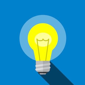 Ampoule icône plate illustration isolé vecteur signe symbole