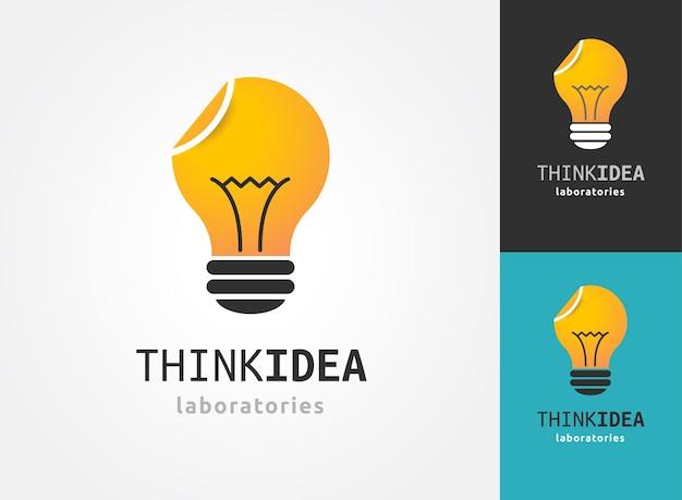 Ampoule - idée, création, icônes et éléments technologiques