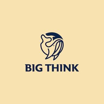 Ampoule idée logo hipster vintage emblème icône illustration vectorielle