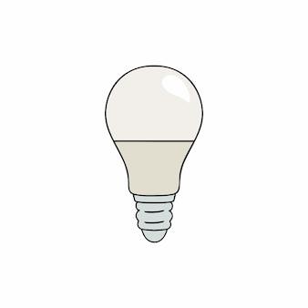 Ampoule led blanche. économie d'énergie et consommation raisonnable.