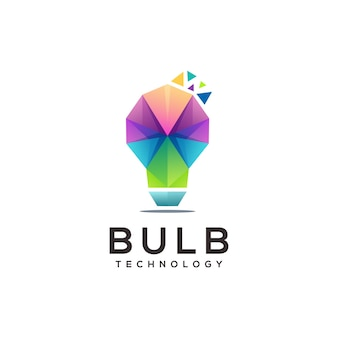 Ampoule logo coloré illustration abstrait géométrique