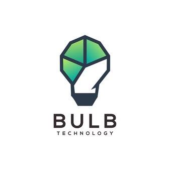 Ampoule logo illustration géométrique abstrait
