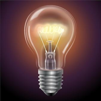 Ampoule lumineuse réaliste
