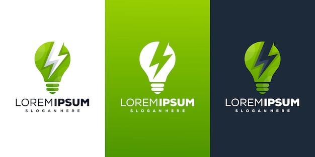Ampoule moderne avec création de logo énergétique