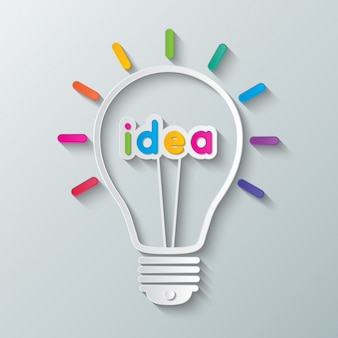 Ampoule avec le mot «idée»