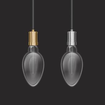 Ampoule réaliste dans une lampe de style rétro