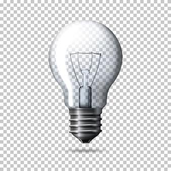 Ampoule réaliste transparente