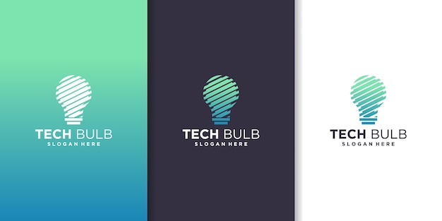 Ampoule technique, inspiration pour la création de logo technologique