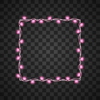Ampoules coeurs isolés sur transparent