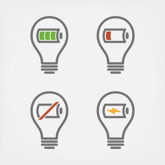 Ampoules avec la conception des batteries