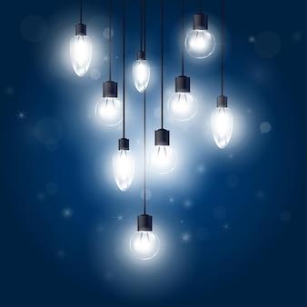 Ampoules lumineuses suspendues à des cordons - lampes