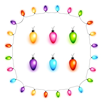 Ampoules de noël colorées