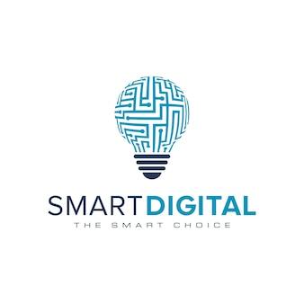 Ampoules numériques intelligentes inspiration logos numériques
