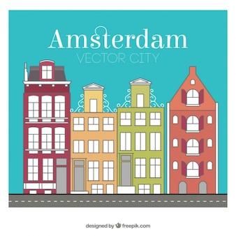 Amsterdam bâtiments de la ville