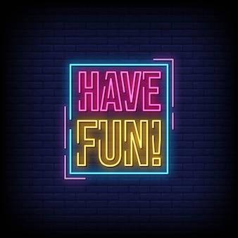 Amusez-vous avec du texte de style enseignes au néon