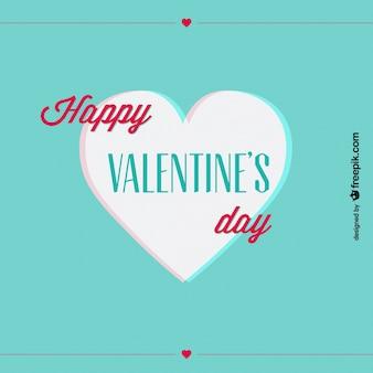 Anaglyphe du jour de conception de carte de coeur de rétro valentine