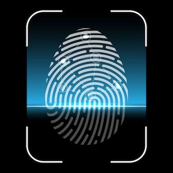 Analyse biométrique d'empreintes digitales, système d'identification