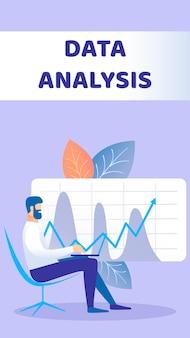 Analyse de données flyer plat
