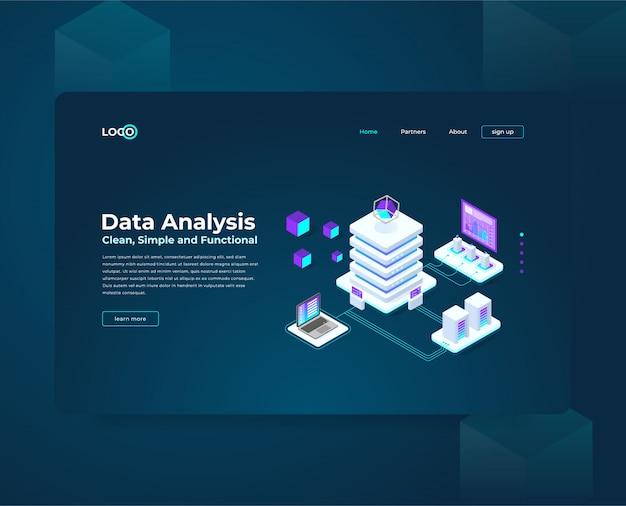 Analyse de données d'illustration isométrique