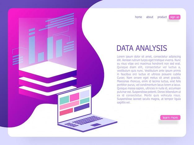 Analyse de données isométrique illustration de conception