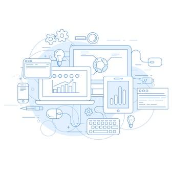 Analyse de site web et outils de marketing en ligne - statistiques des données