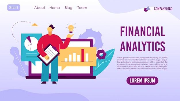 Analyse des tendances page de destination de la stratégie financière