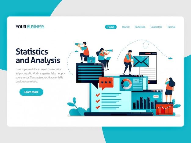 Analyser les statistiques et les données sur la page de destination du rapport d'entreprise