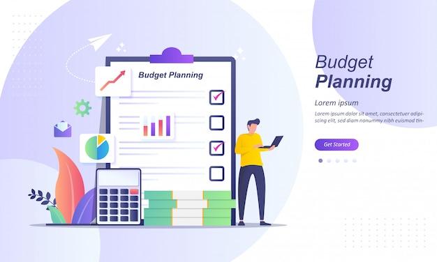 Analyste financier à checklist sur papier