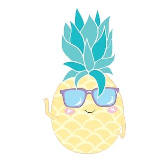 Ananas mignon dans des verres