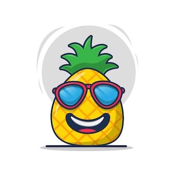Ananas portant des lunettes de soleil