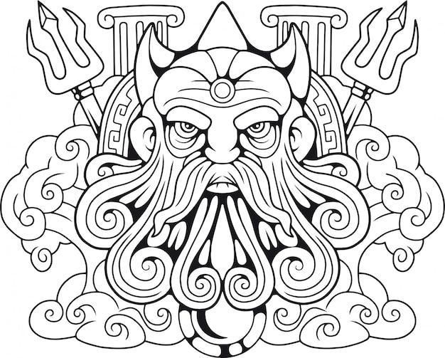 Ancien dieu grec poséidon
