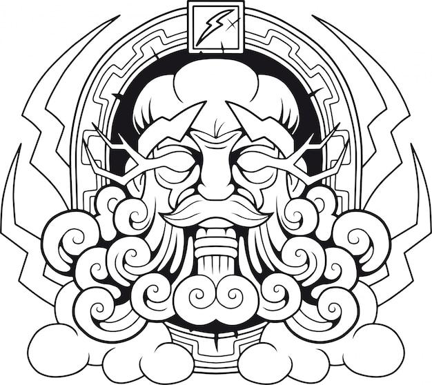 Ancien dieu grec zeus