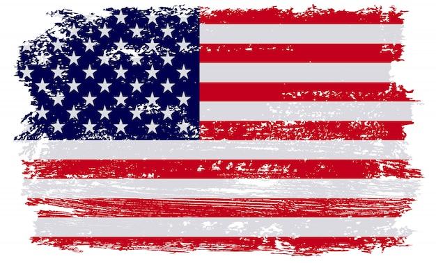 Ancien drapeau américain grunge