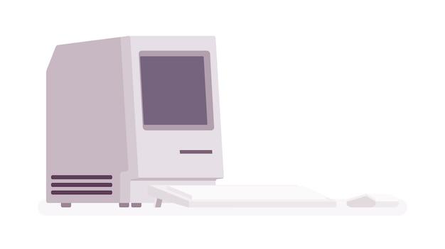 Ancien ordinateur personnel, modèle rétro