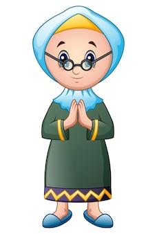 Ancienne caricature de fille musulmane