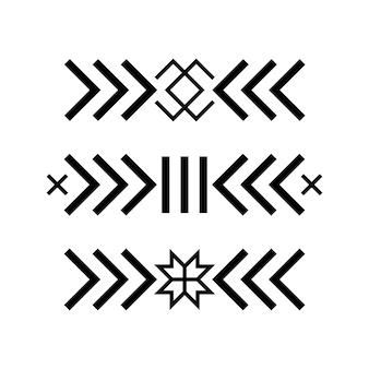 Ancienne étoile folklorique baltique ou symbole de flocon de neige fleur.