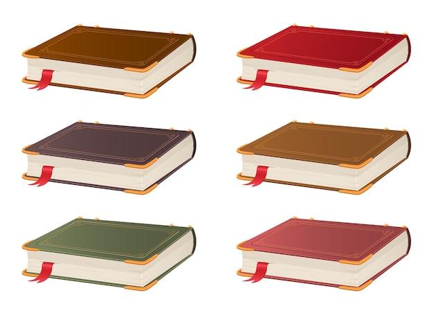 Ancienne illustration de conception de livre vintage isolé sur fond blanc