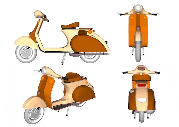 Ancienne moto modèle isolée