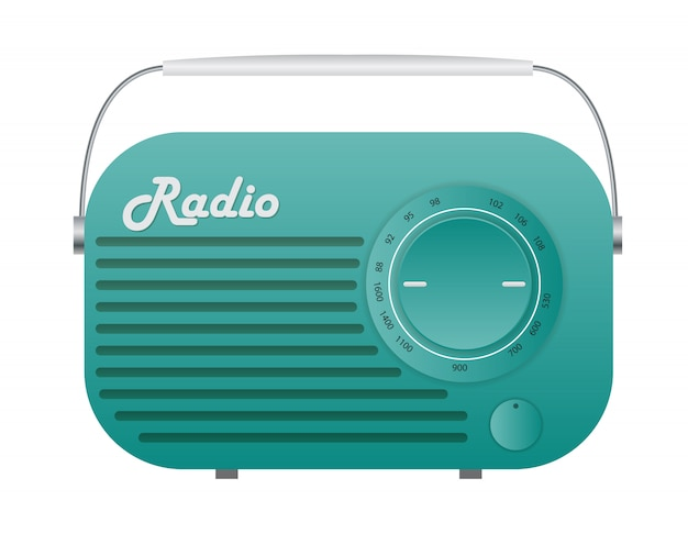 Ancienne radio tuner icon illustration