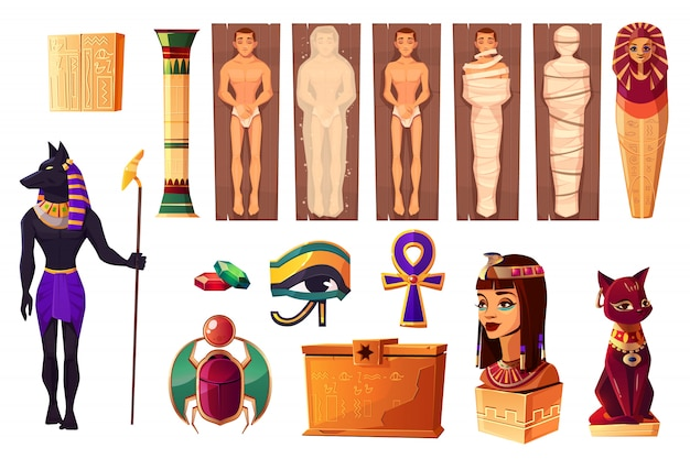 Anciens attributs égyptiens de la culture et de la religion