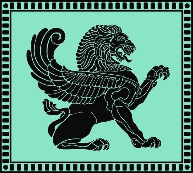 Anciens lions bouclier