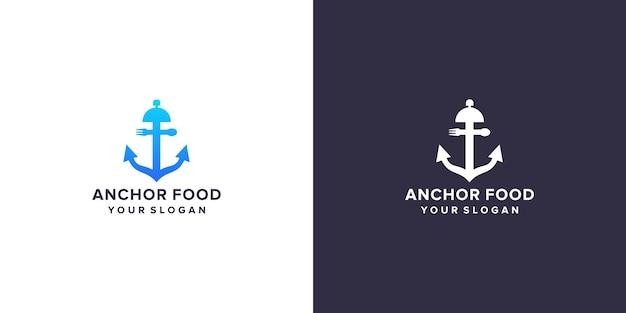 Ancre avec logo alimentaire