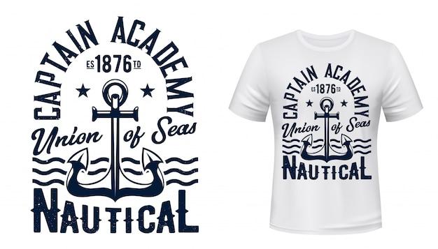 Ancre nautique pour impression de t-shirt