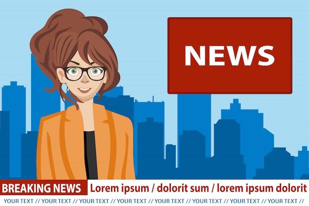 Ancre de nouvelles diffusant les nouvelles
