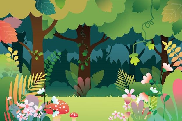 Andscape avec forêt profonde