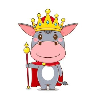 Âne mignon comme roi