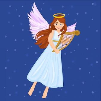 Ange avec harpe