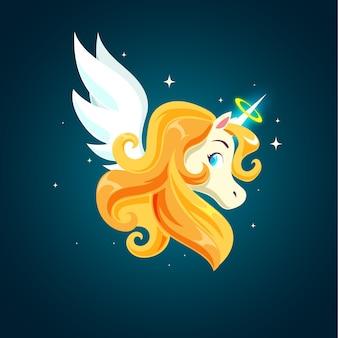 Ange magique licorne